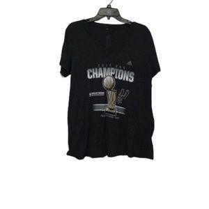 Spurs NBA 2014 Championship Adidas Shirt sz 2XL